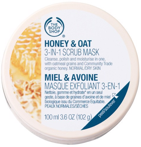 Mặt nạ tẩy tế bào chết The Body Shop Honey & Oat 3-In-1 Scrub Mask 100ml