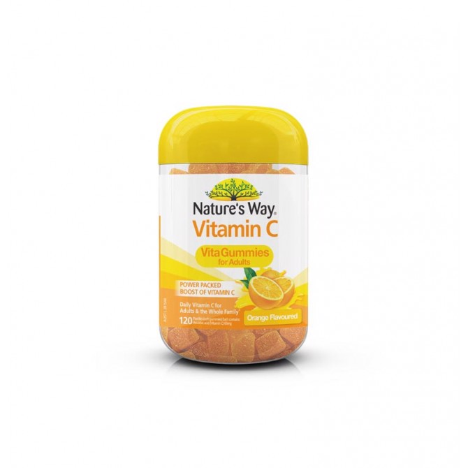 Kẹo Dẻo Bổ Sung Vitamin C Nature's Way Vita Gummies Adult Vitamin C 120 Viên