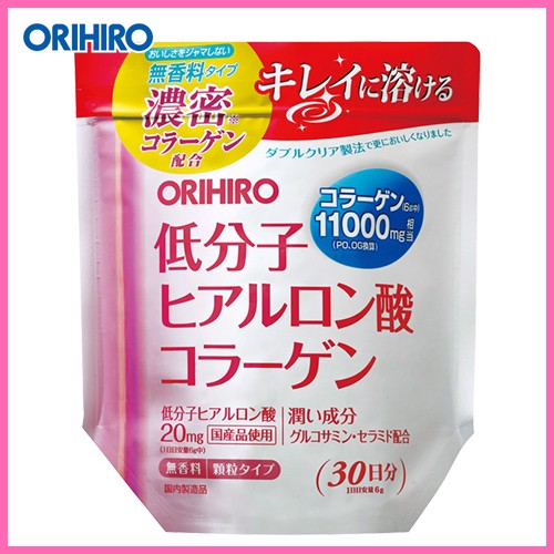Collagen Hyaluronic Acid Orihiro Dạng Bột 11000mg 180g