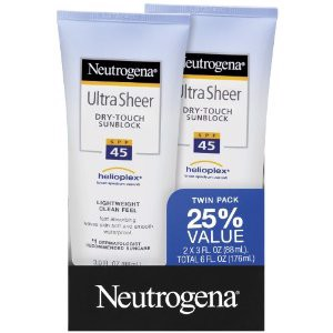 Chống Nắng Neutrogena Ultra Sheer Sunblock SPF 45- Pack 2 Tube