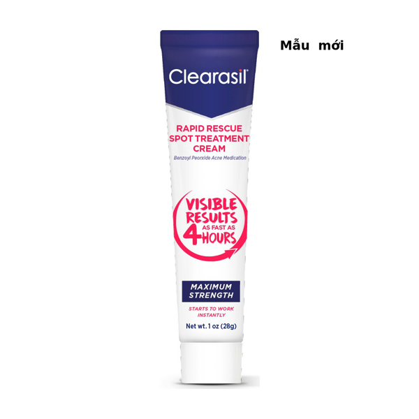 Kem trị mụn trứng cá Clearasil Ultra Rapid Action Vanishing Treatment Cream, 28g
