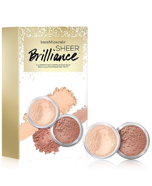 Set Phấn Phủ BareMinerals Sheer Brilliance Illuminating Complexion Duo