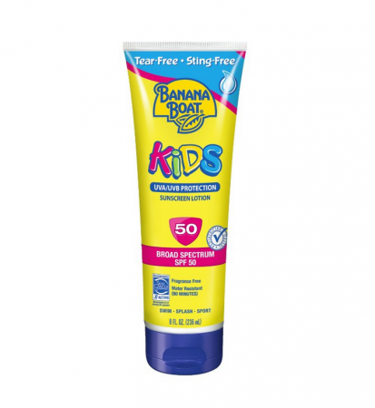Chống nắng Banana Boat Kid's Tear Free Sunscreen Lotion, spf 50, 8 oz