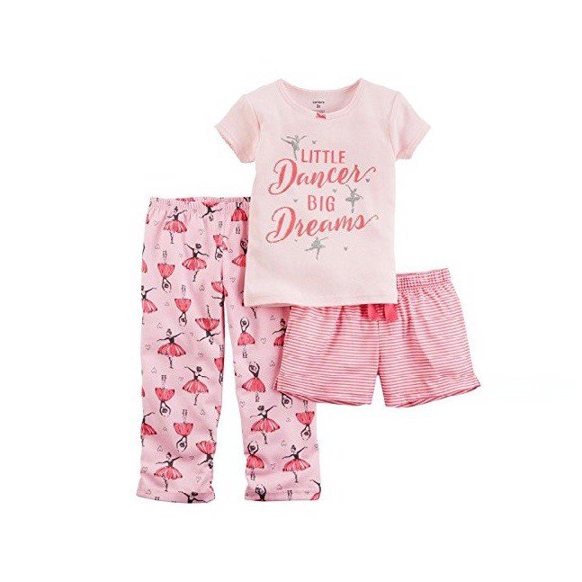 Set Carter's bé gái bộ 3 , little dancer 3T