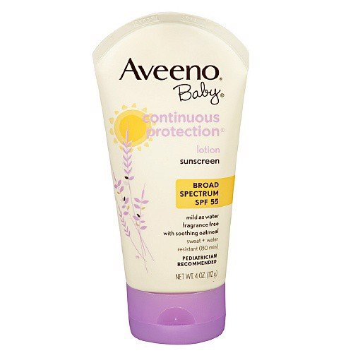 Aveeno Sunblock Lotion, Continuous Protection, SPF 55