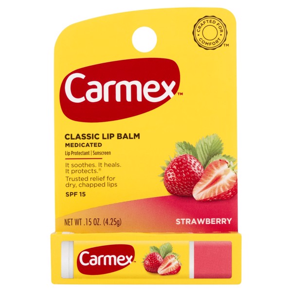 Carmex Moisturizing Lip Balm Stick SPF 15, Strawberry