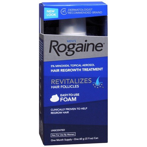 Mọc tóc nam Men's Rogaine Hair Regrowth Treatment Foam, Unscented, 1 tháng