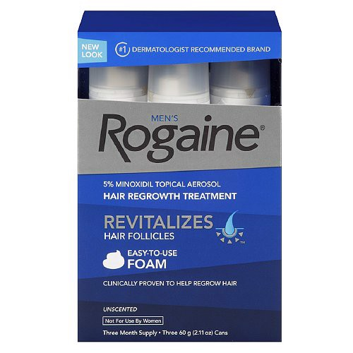 Mọc tóc nam Men's Rogaine Hair Regrowth Treatment Foam, Unscented 3 tháng. Dạng kem