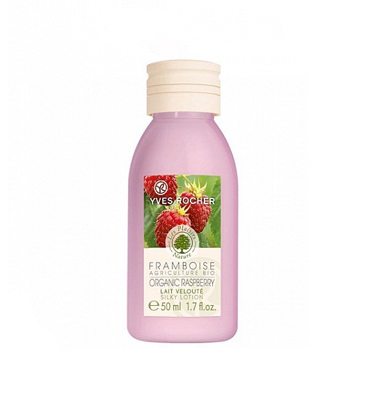 Lotion Yves Rocher Organically-grown Raspberry, hương mâm xôi- Travel Size