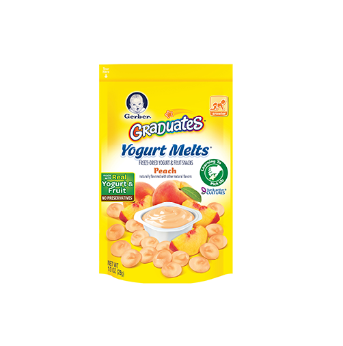 Sữa chua khô Gerber Organic Yogurt Melts, Peach