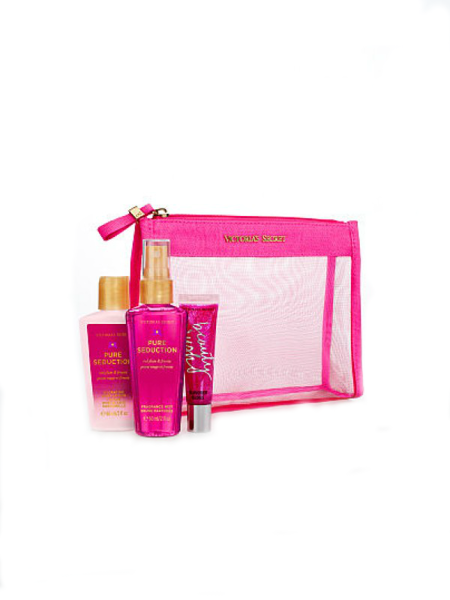 Bộ quà tặng Victoria's Secret Pure Seduction Gift Set Lotion Mist lip Gloss