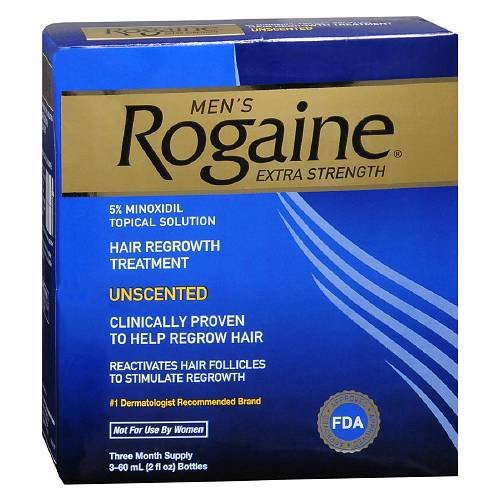 Mọc tóc Men's Rogaine Extra Strength Hair Regrowth Treatment, Unscented 3 tháng