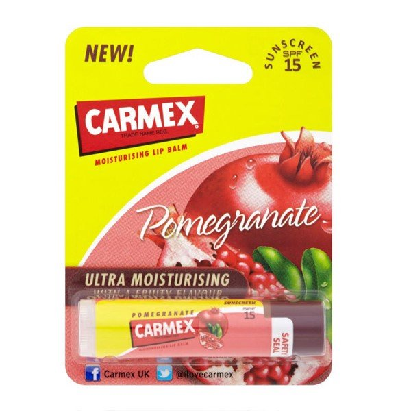 Carmex Ultra Smooth Lip Balm Stick SPF 15, Pomegranate
