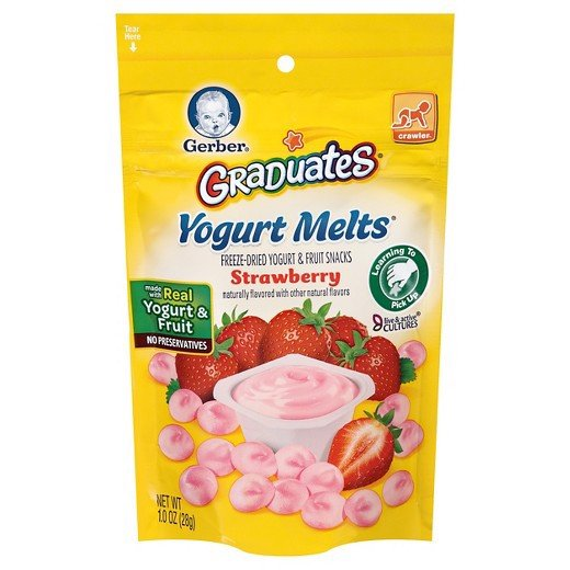 Sữa Chua Khô Gerber Graduates Yogurt Melts, Strawberry