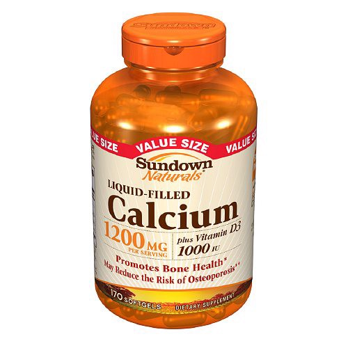 Bổ sung canxi Sundown Naturals Calcium plus Vitamin D3, 1200mg, 170 viên