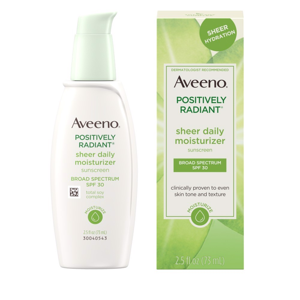 Sữa Dưỡng Thể Aveeno Active Naturals Positively Radiant Daily Moisturize, Dành cho vùng mặt
