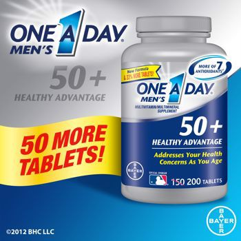 One A Day Men's 50+ Healthy Advantage, 200 viên