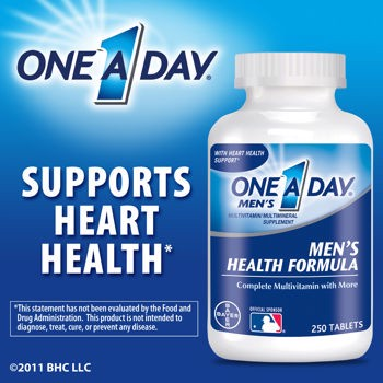 One a Day Men's Health Formula- multivitamin, 200 viên