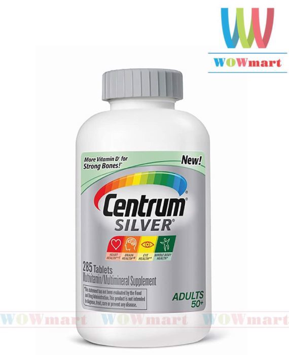 Centrum Multivitamin Silver Adults 50+, 285 viên