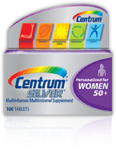 Centrum Silver Multivitamin women 50+, 100 viên