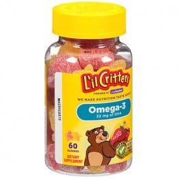 KẸO DẼO L'il Critters Immune C plus Zinc & Echinacea Dietary Supplement Gummy Bears - 190 VIÊN