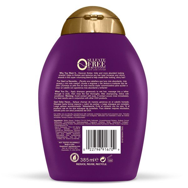 Dầu Gội OGX Thick & Full + Biotin & Collagen 385 ml