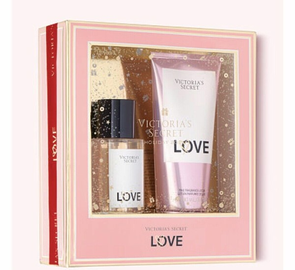 Bộ Quà Tặng Victoria Secret LOVE Perfume Fragrance Body Mist & Fine Fragranc Lotion Gift Set