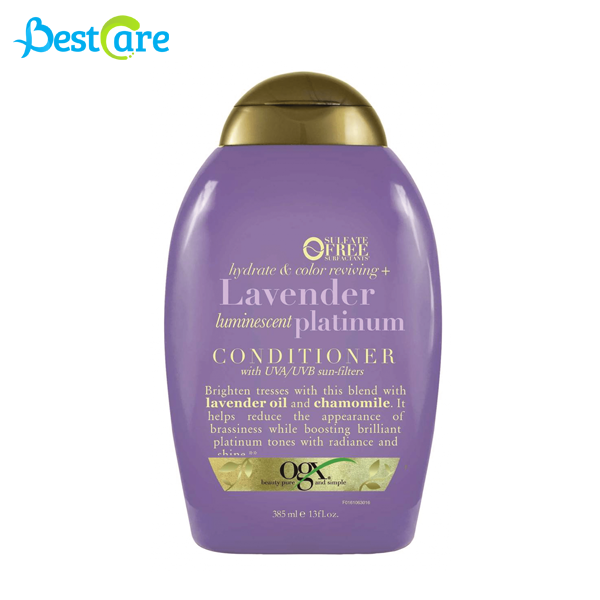 Dầu xả OGX Hydrate & Color Reviving + Lavender Luminescent Platinum 385 ml