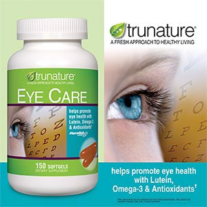 Bổ mắt Trunature® Eye Care with Omega-3, Lutein & Powerful Antioxidants†