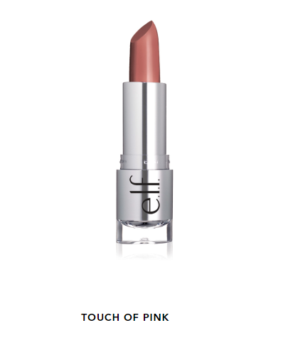 Son môi  ELF Beautifully Bare Satin Lipstick, Touch of Pink