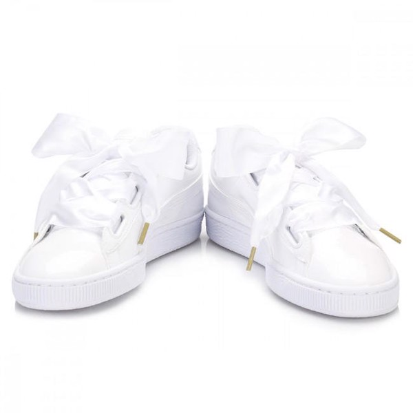 [ 36307302 ] Puma Basket Heart Patent 'White'