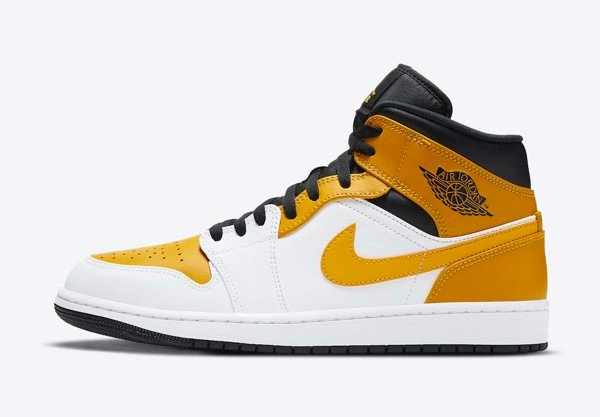 [ 554724-170 ] Air Jordan 1 Mid ' University Gold '