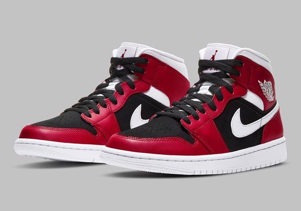 [ BQ6472-601 ] Nike Air Jordan 1 Mid 'Gym Red Black'