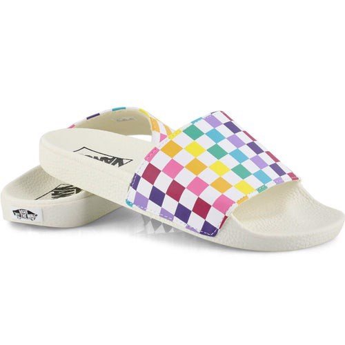 [ VN0A38EH066 ] Vans Slides CHECKERBOARD MULTICOLOR