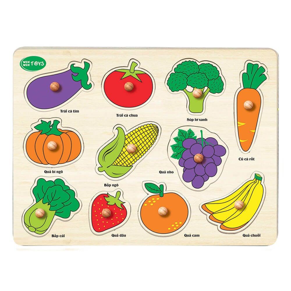Bé học rau củ quả   Winwintoys - 60612