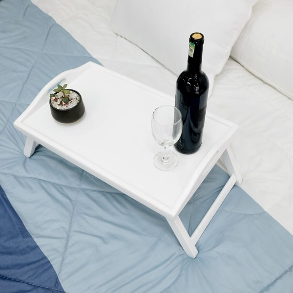 BÀN ĂN MINI BED TRAY WHITE