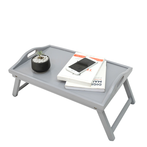 BÀN ĂN MINI BED TRAY GREY