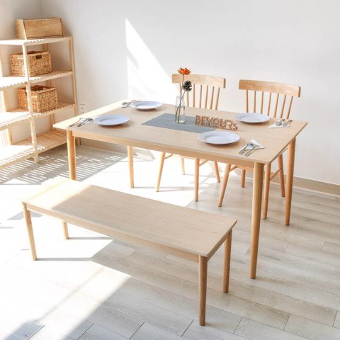 BỘ BÀN ĂN NARI DINNER TABLE SIZE M NATURAL