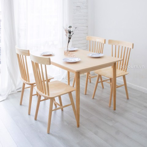 BỘ BÀN ĂN NARI DINNER TABLE SIZE S NATURAL 02
