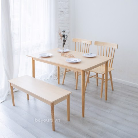 BỘ BÀN ĂN NARI DINNER TABLE SIZE S NATURAL