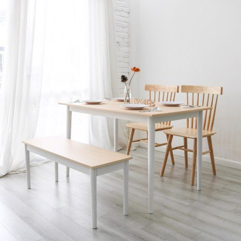 BỘ BÀN ĂN NARI DINNER TABLE SIZE M NATURAL WHITE