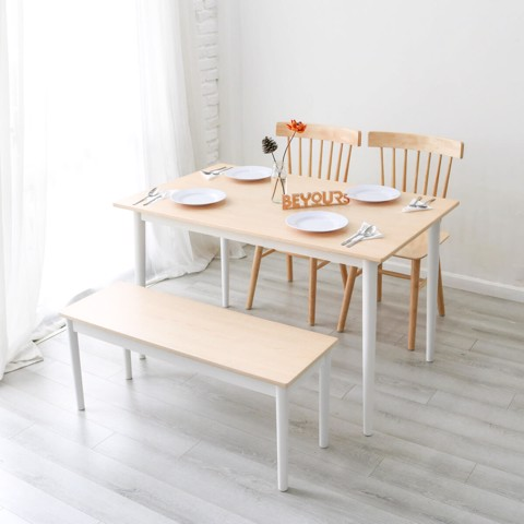 BỘ BÀN ĂN NARI DINNER TABLE SIZE S NATURAL WHITE