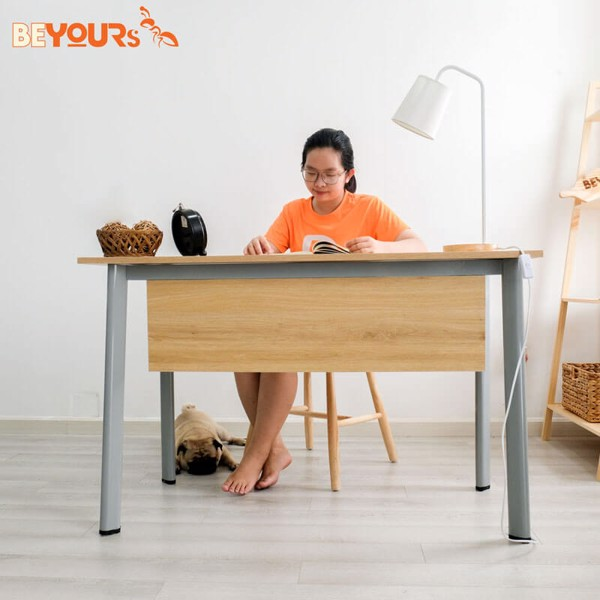 BÀN LÀM VIỆC MOLLY TABLE 1.2M GREY NATURAL