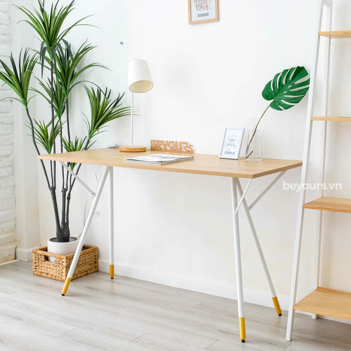 BÀN LÀM VIỆC SIMPLE TABLE D50 NATURAL WHITE
