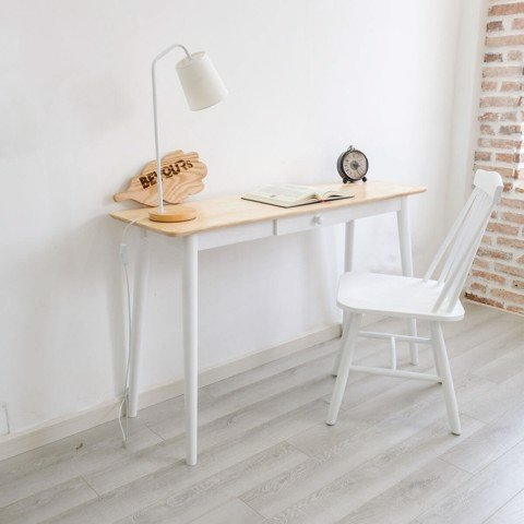 BÀN LÀM VIỆC DRA LONG TABLE NATURAL WHITE