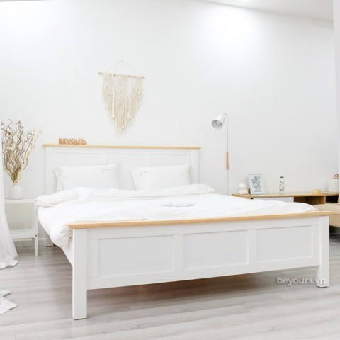 GIƯỜNG NGỦ FREEZING FOG BED 1.4 x 2M NATURAL WHITE