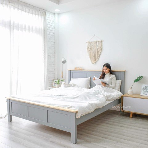 GIƯỜNG NGỦ FREEZING FOG BED 1.4 x 2M NATURAL GREY