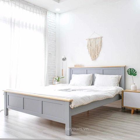 GIƯỜNG NGỦ FREEZING FOG BED 1.6 x 2M NATURAL GREY