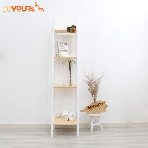 KỆ SÁCH A BOOK SHELF 4FS NATURAL WHITE