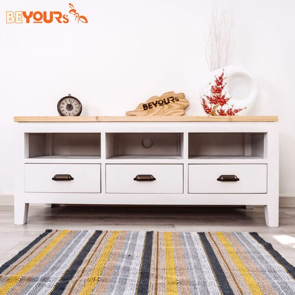 KỆ TIVI B01 TV SHELF WHITE NATURAL